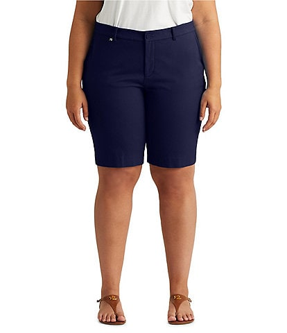 Lauren Ralph Lauren Plus Size Twill Stretch Cotton Short
