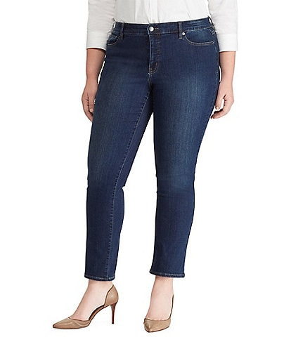 Lauren Ralph Lauren Plus Size Ultimate Slimming Premier Straight Curvy Jeans