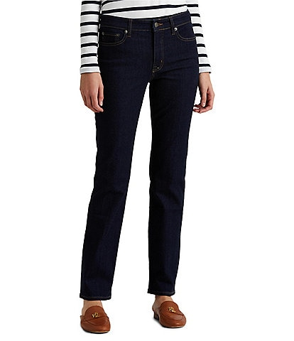 Lauren Ralph Lauren Premier Stretch Denim Straight Leg Jeans