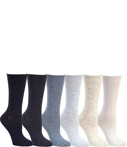 Lauren Ralph Lauren Roll-Top Trouser Socks 6-Pack