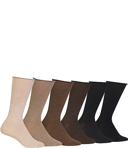 Lauren Ralph Lauren Roll-Top Trouser Socks 6-Pack