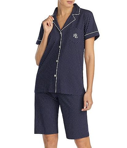 Lauren Ralph Lauren Short-Sleeve Bermuda Coordinating Pajama Set