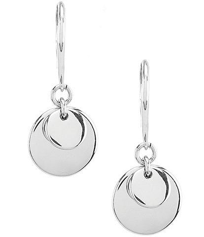 Lauren Ralph Lauren Silver Triple Disc Drop Earrings