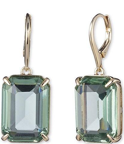 Lauren Ralph Lauren Stone Gold Tone Drop Earrings