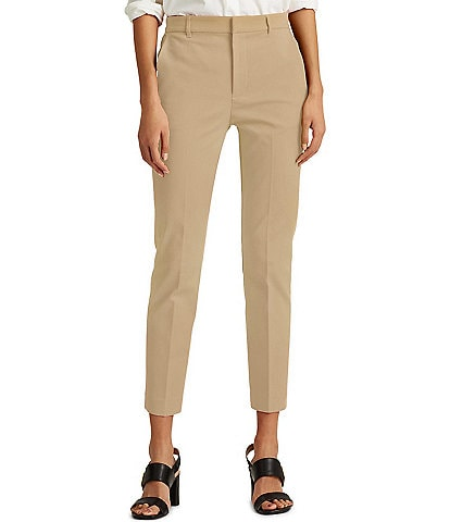 Lauren Ralph Lauren Stretch Cotton Blend Ankle Pants
