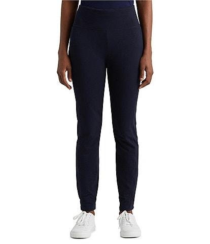 Lauren Ralph Lauren Stretch Cotton-Blend Pull-On Straight Pants