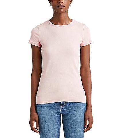 Lauren Ralph Lauren Short Sleeves Stretch Cotton T-Shirt