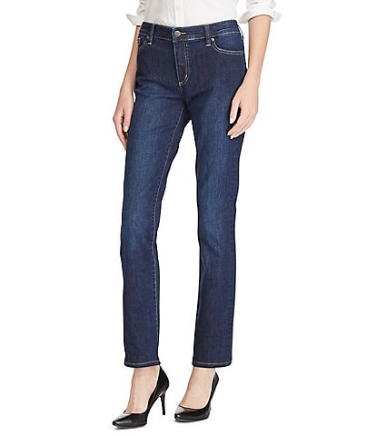 Lauren Ralph Lauren Stretch Denim Premier Straight-Leg Jeans