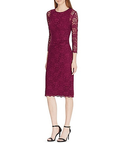 Lauren Ralph Lauren Stretch Lace Sheath Dress
