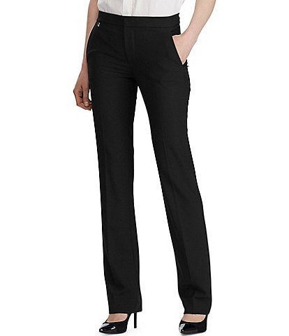 Lauren Ralph Lauren Stretch Woven Straight Leg Pants