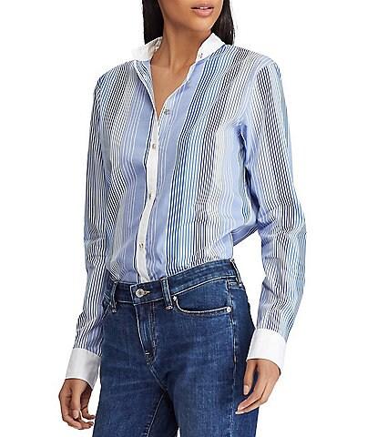 Lauren Ralph Lauren Striped Button Down Shirt