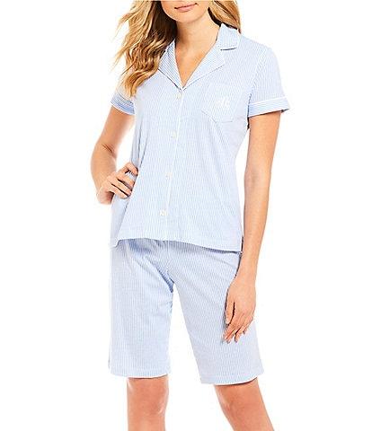 Lauren Ralph Lauren Striped-Print Bermuda Pajama Set