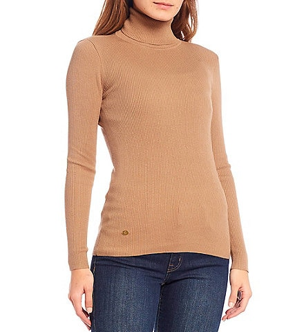 Lauren Ralph Lauren Turtleneck Stretch Cotton Blend Sweater