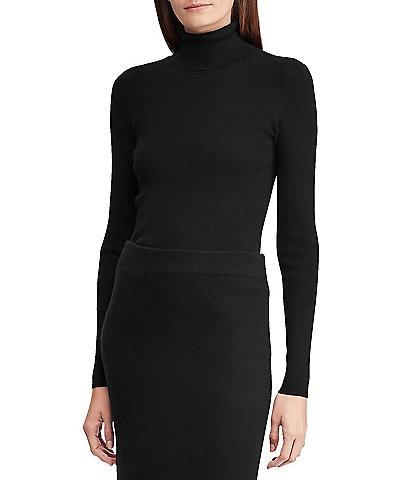Lauren Ralph Lauren Turtleneck Stretch Cotton Blend Sweater