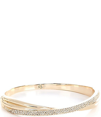 Lauren Ralph Lauren Twisted Pave Bangle Bracelet