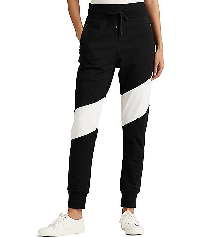 Lauren Ralph Lauren Two-Tone Cotton Blend Jogger Pant