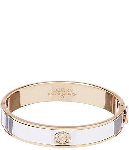 Lauren Ralph Lauren Two Tone Crest Bangle Bracelet