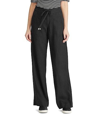 Lauren Ralph Lauren Wide Leg Linen Pants