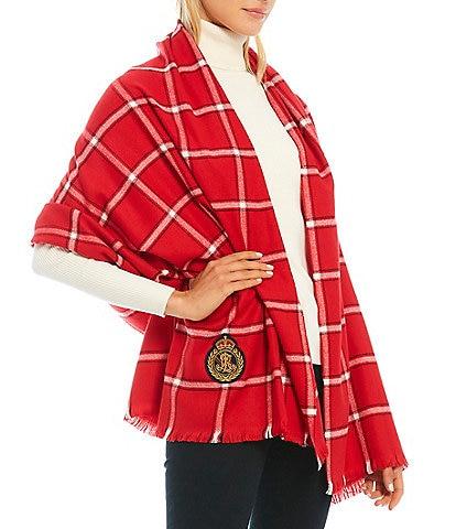 Lauren Ralph Lauren Window Pane Blanket Wrap