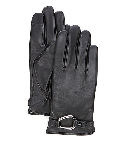 Lauren Ralph Lauren Women's Leather Bridle Belt Touch Glove