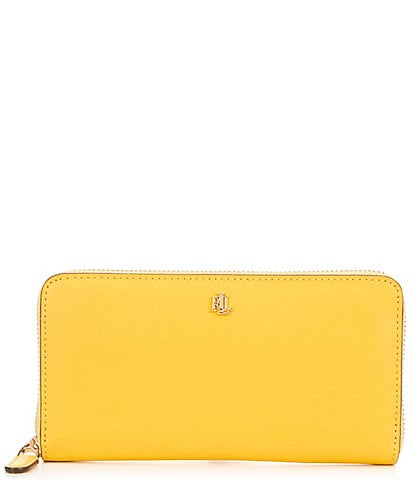 Lauren Ralph Lauren Zip Continental Leather Zip Wallet