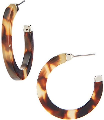 Lauren Ralph Lauren Tortoise Medium Hoop Earrings