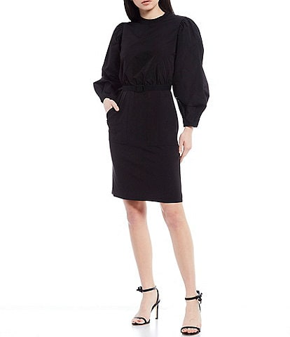 LDT Alecia Long Sleeve Puff Blouse Dress