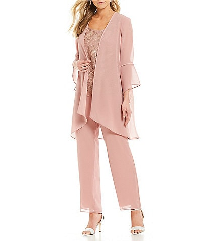Le Bos 3-Piece Bell Sleeve Duster Pant Set
