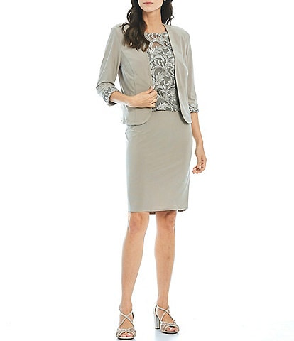 Le Bos Embroidered 2-Piece Jacket Dress