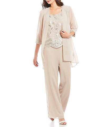 Le Bos Embroidered 3 Piece Pant Set