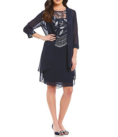 Le Bos Mock 2-Piece Jacket Dress