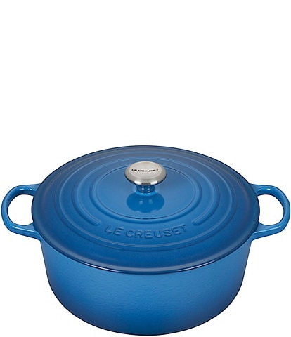 Le Creuset 9-Quart Signature Round Dutch Oven with Stainless Steel Handle