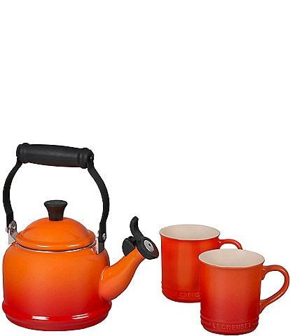 Le Creuset Demi Kettle and Mugs Set
