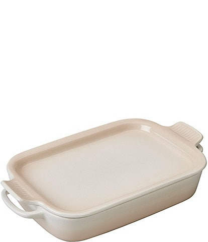 Le Creuset Meringue 4-Quart Rectangular Dish with Platter Lid