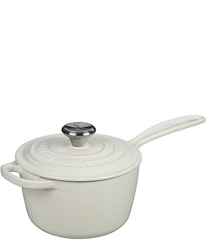 Le Creuset Signature 1.75-Quart Enameled Cast Iron Saucepan with Stainless Steel Knob