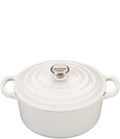 Le Creuset Signature 3.5-Quart Round Enameled Cast Iron Dutch Oven with Stainless Steel