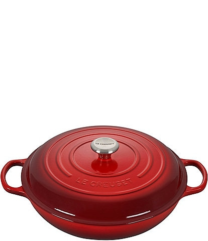 Le Creuset Signature 5-Qt Enameled Cast Iron Braiser with Stainless Steel Knob
