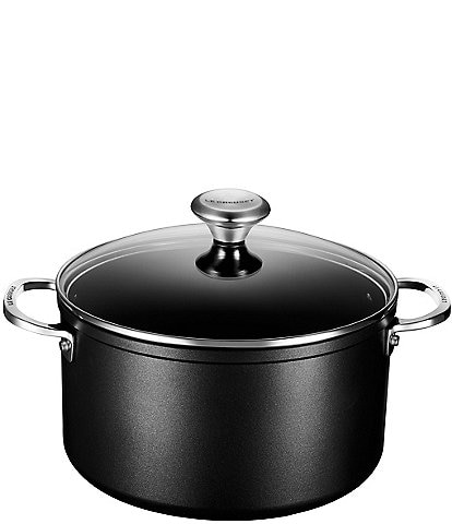 Le Creuset Toughened Nonstick Pro 6-1/3 QT Stockpot with Glass Lid
