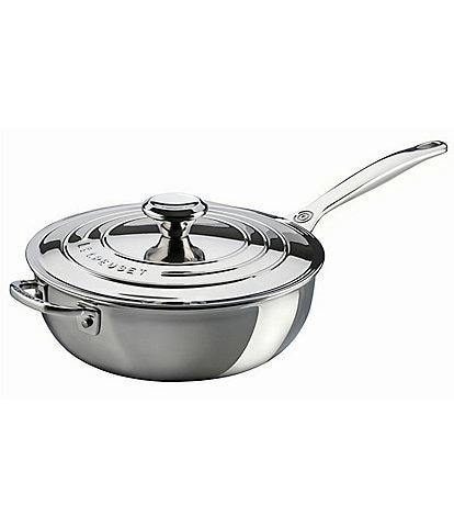 Le Creuset Tri-Ply Stainless Steel 3.5-Quart Saucier Pan