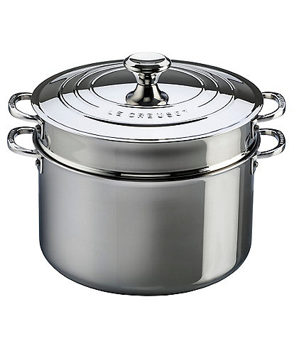 Le Creuset Tri-Ply Stainless Steel 9-Quart Stockpot with Lid and Colander Insert