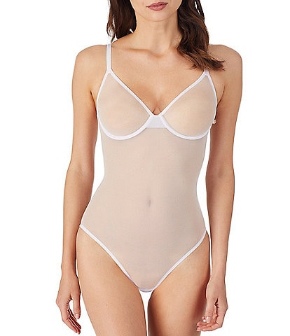 Le Mystere Modern Mesh Underwire Cup Adjustable Strap Bodysuit
