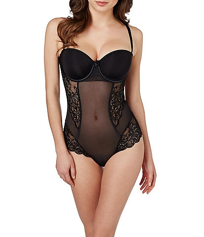 Le Mystere Sophia Scalloped Lace Convertible Bodysuit