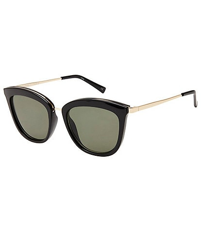 Le Specs Caliente Black Cat Eye Sunglasses