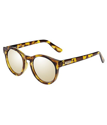 Le Specs Hey Macarena Tortoise Frame Mirror Lens Sunglasses