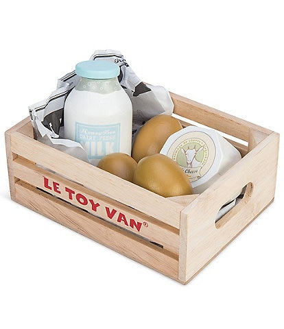 Le Toy Van Honeybake Eggs & Dairy Crate Set