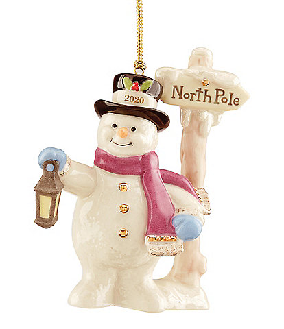 Lenox 2020 North Pole Snowman Ornament