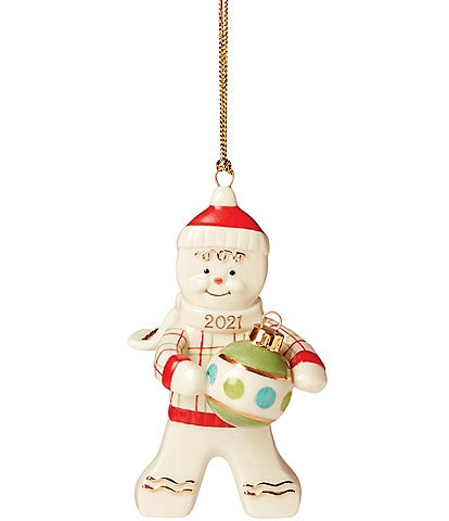 Lenox Annual 2021 Trimming the Tree Gingerbread Porcelain Ornament