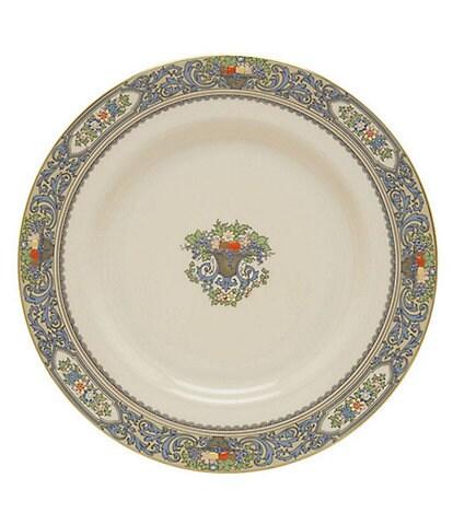 Lenox Autumn Floral Fruit Basket Dinner Plate