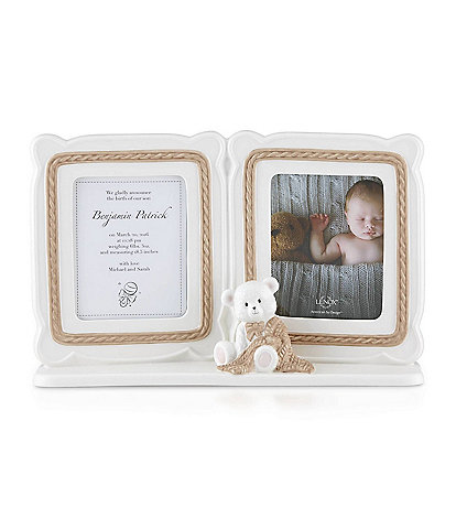 Lenox Baby Bear Double Photo Frame