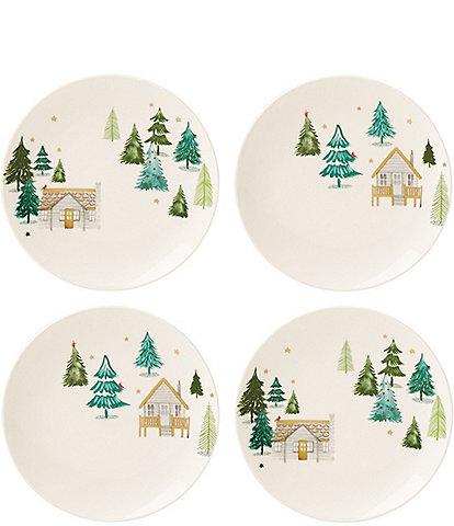 Lenox Balsam Lane Cabin Accent Plates, Set of 4